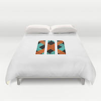 M Crisscross Duvet Cover by Matt Irving