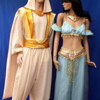 Aladdin Jasmine Disney TIARA NECKLACE EARRINGS Costume