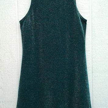 90s Iridescent Metallic Tank Dress