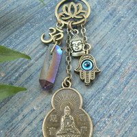 protection necklace Spiritual necklace Quan-yin necklace