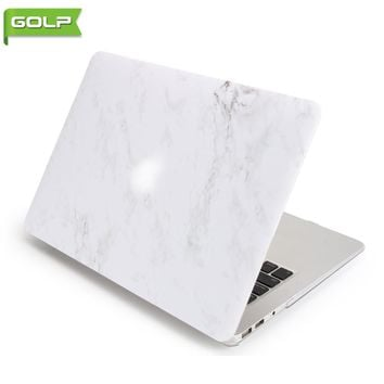 "Cover & Case for Macbook Air 13"", GOLP Perfect Fit Luxury Marble Pattern Printing Hard PC Cover & Back Case for Macbook Air 13"""