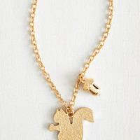 ModCloth Critters A Squirrel Like Me Necklace