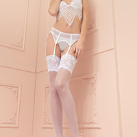 Eleonora 30 Den Lace Top Stockings