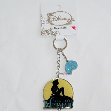 Licensed cool Disney Ariel The Little Mermaid Rock Moon Sun Key Ring Chain Keychain Loungefly