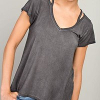Cut Out Short Sleeve T-Shirt