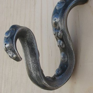 Octopus squid tendril tentacle hook by BattleHillForge on Etsy