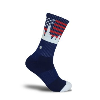 CHICAGO SKYLINE SOCKS - AMERICAN FLAG