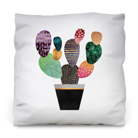 Pretty Cactus Throw Pillow