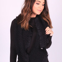 Wrap It Up Black Infinity Scarf