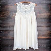 cream boho crochet lace dress