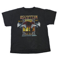 90s Retro Style Reproduction Led Zeppelin June 22 1977 Concert Tee Mens Size Large