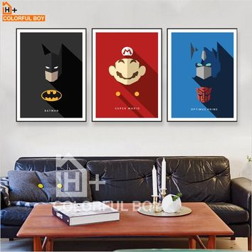 COLORFULBOY Super Hero Wall Art Canvas Painting Pop Art Nordic Posters And Prints Canvas Wall Pictures For Living Room Decor