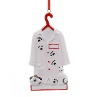 Holiday Ornaments VETERINARIAN. Polyresin Animals Dogs Cats Doctor 50.