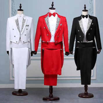 Magic wedding prom formal suits groom Tuxedo men's clothing