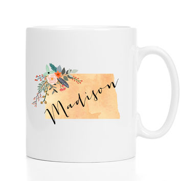 Personalized North Dakota Mug
