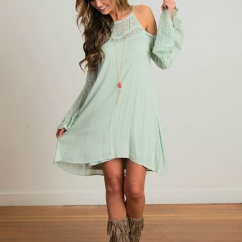 Full of Wisdom Mint Lace Dress