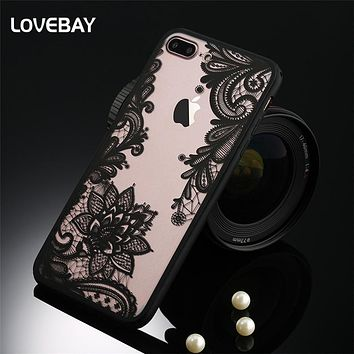 7ecfd44dfef Sexy Lace Phone Case For iPhone 7 7 Plus 6 6s Plus 5s SE Floral
