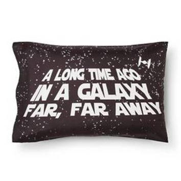 In A Galaxy Far Far Away Pillowcase (Standard) Black - Star Wars® : Target