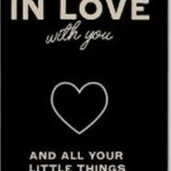 H&F I am in love with you and all your little thing black heart case for apple iphone 5 5s 5g