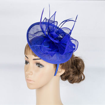 High quality multiple color sinamay base fascinator headwear sinamay millinery headpiece occasion hair accessoires hats TMYQ025