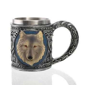 Moscow Mule Wolf Mug Double Wall Coffee Cup