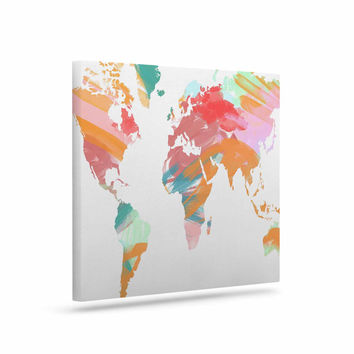 "Chelsea Victoria ""Wild World"" Travel Painting Canvas Art"