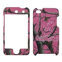 Apple Ipod Touch 4th Generation 4g 4 8gb 32gb Girls Hunt Too Camo Pink Tree Hunting Hard Snap-on Crystal Skin Case Cover Ac...