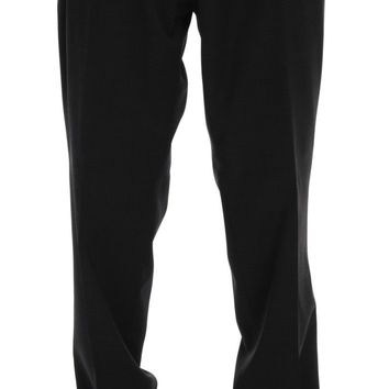 Gray Wool Stretch Pants