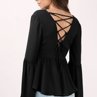 Kalista Lace Up Blouse