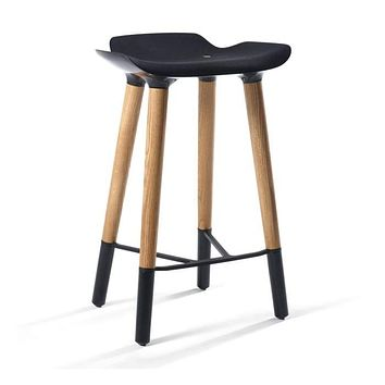 Pilot Danish Modern Counter Stool Black Seat