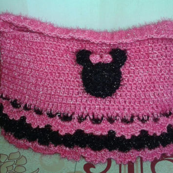 Handmade Crochet Minnie Mouse Purse