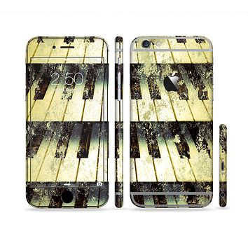 The Vintage Pianos Keys Sectioned Skin Series for the Apple iPhone 6