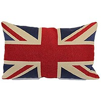 Brentwood Originals 8377 Union Jack Tapestry Toss Pillow, 13-Inch