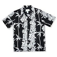 bamboo black hawaiian rayon shirt