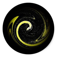 Serpent Symbol Classic Round Sticker