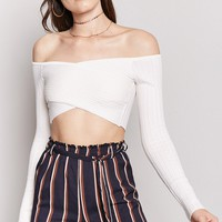Surplice Wrap Crop Top