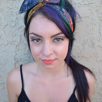 Watercolor Rockabilly Headband #G1005
