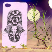 elephant hamsa - Photo Print for iPhone 4/4s, iPhone 5/5s/5C, Samsung S3 i9300, Samsung S4 i9500 Hard Case