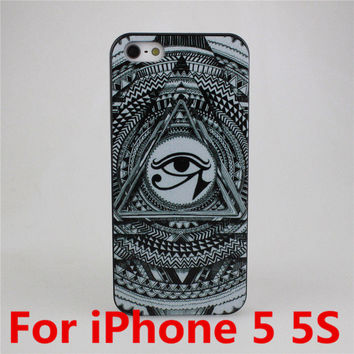 Don't Trust Anyone Eyes Case Cover Evil Eyes Teeth Luxury Hard Cases For Apple iPhone 4 4S 5 5S 5C 6 6 Plus Free Shipping