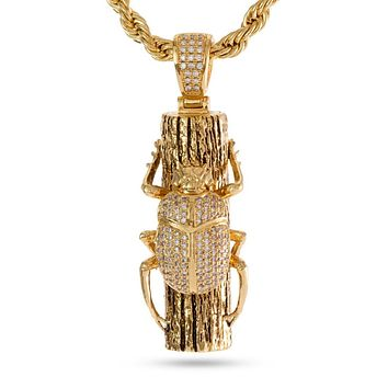 The 14K Gold Egyptian Scarab Necklace