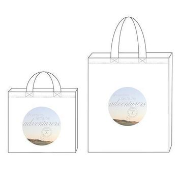 Wanderlust Oh Darling, Let's Be Adventurers Personalized Tote Bag Tote Bag with Gussets (Pack of 1)