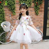 princess dress girl 3-12 years 2017 summer girl princess dress baby wedding dress girl lace fashion clothing