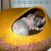 Large cat cave  for for Balt Cat, Pets cave, pats cat bed, pet cat house