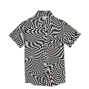 WARPED CHECK WOVEN SHIRT