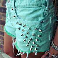 WILDHEARTS Vintage Spike STUDDED High Waisted by WildHeartsShorts