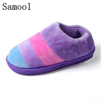 2017 Lovers Winter Warm Fur Slippers Men Slippers Cotton Sheep Lovers Home Slippers Indoor House Shoes Winter Keep Warm Shoes