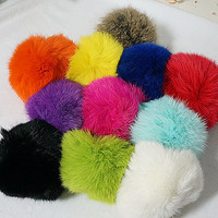 Fashion fur ball handmade keychain, Coney keychain,trend accessories, 11 color  furball keychain,everyday jewelry /gift box