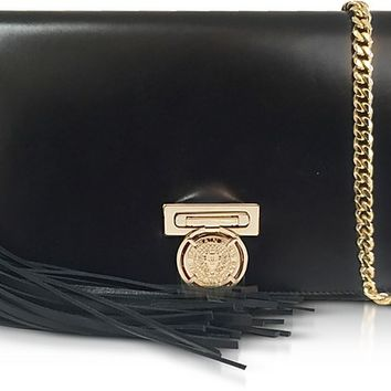 Balmain Black Leather Mini BBox Pochette