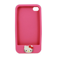 Cute Style Silicon Protection Case for iPhone 4G 4S - Deep Pink $7.33 - Free Shipping, iPhone Cases & Armbands