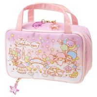Little Twin Stars Kiki Lala Vanity Case Makeup Box Makeup Pouch Balloon Sanrio JAPAN
